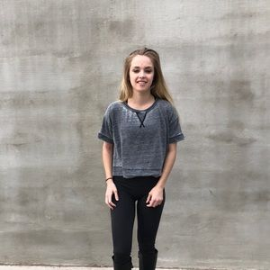 Crop Top Gray T-shirt